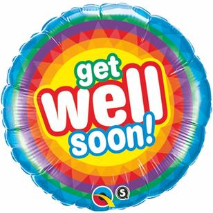 Qualatex Get Well Soon Radiant Foil Balloon