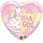 Qualatex It's A Girl Soft Pony Foil Balloon Pink