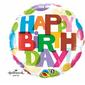 Qualatex Birthday It's Your Day Dots Foil Balloon Multicoloured