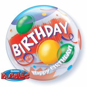 Qualatex Bubbles Birthday Celebration Balloon