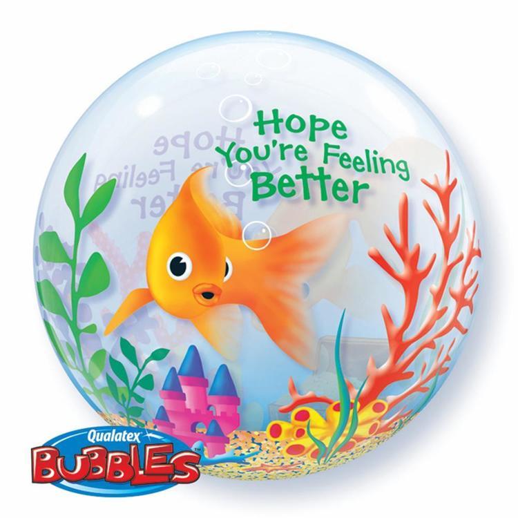 Qualatex Bubbles Feeling Better Fish Bowl Balloon