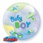 Qualatex Bubbles Birthday Boy Airplanes Balloon Multicoloured