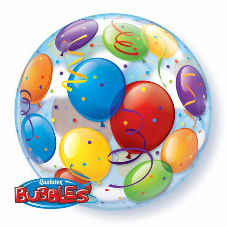 Qualatex Bubbles Balloons Printed Balloon Multicoloured