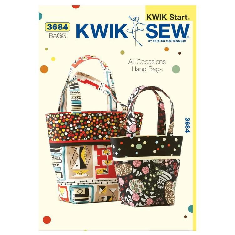 Kwik Sew Pattern K3684 All-Occasion Tote Bags