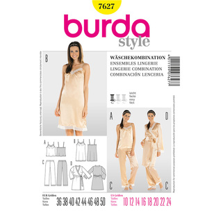 Burda 7627 Women's Lingerie