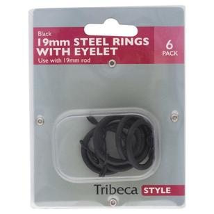 Tribeca 19 mm Steel Rings With Eyelets