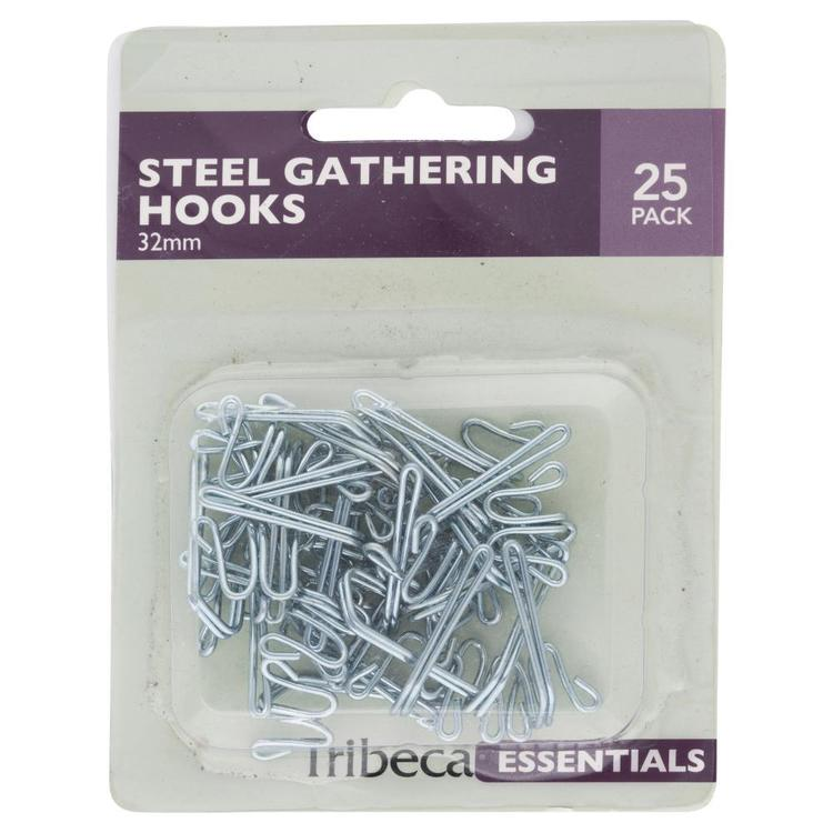 Tribeca 32 mm Gather Hooks Silver 32 mm
