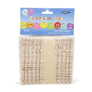 Arbee Construction Sticks 150 Pack