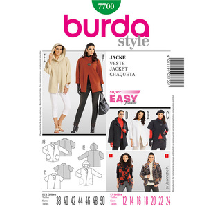 Burda 7700 Women's Jacket