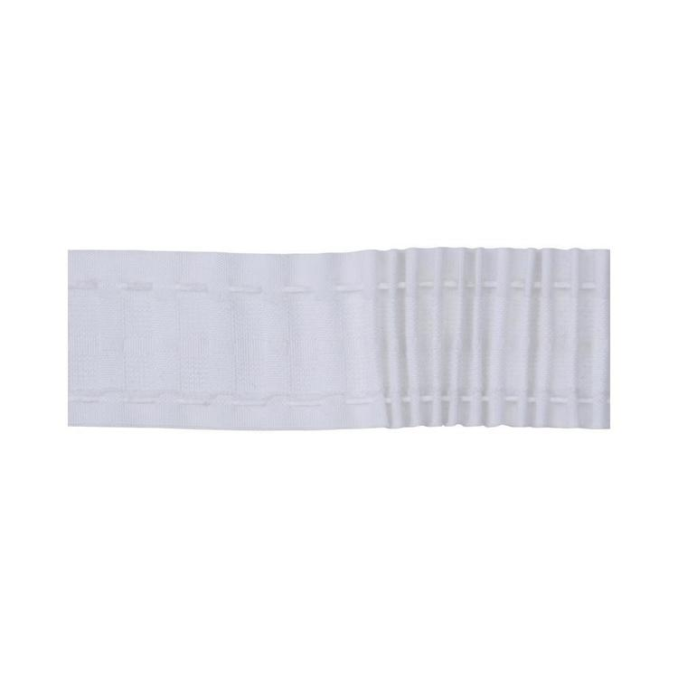 Tribeca Mini Pencil Pleat Curtain Heading Tape White 50 mm