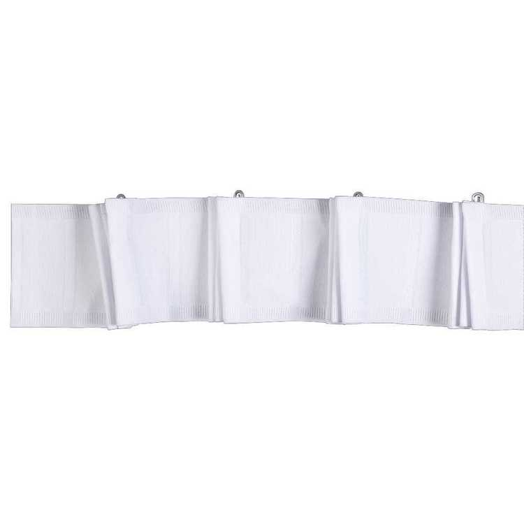 Tribeca 90 mm Deep Pleat Curtain Heading Tape White 90 mm