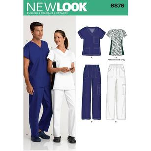 New Look Pattern 6876 Unisex Scrubs