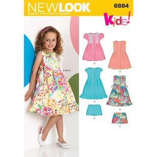 New Look Pattern 6884 Girl's Dress