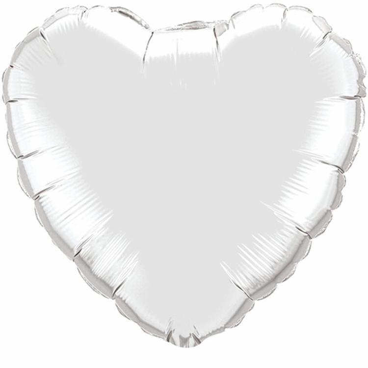 Qualatex Plain Heart Foil Balloon 18""