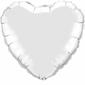 Qualatex Plain Heart Foil Balloon 18