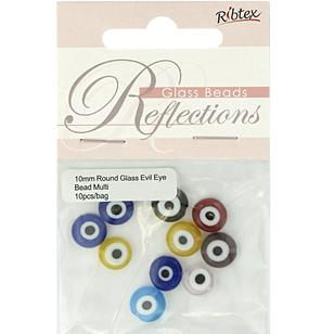 Ribtex Reflections Round Glass Evil Eye