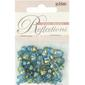 Ribtex Reflections Glass Beads With Metallic Stripe