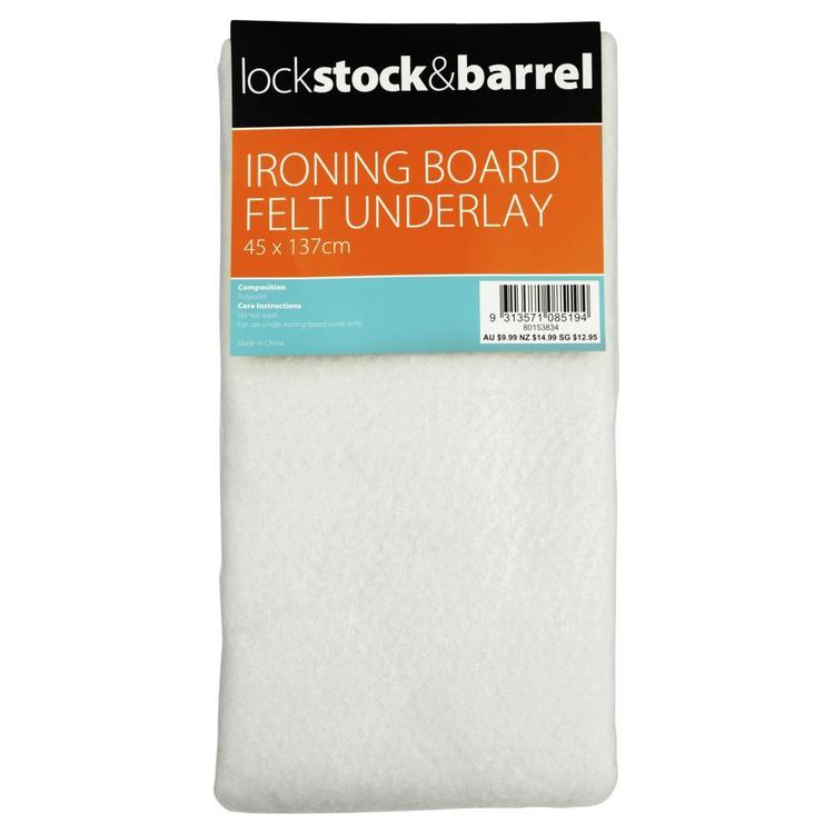 Lock Stock & Barrel Ironing Board Felt Underlay White