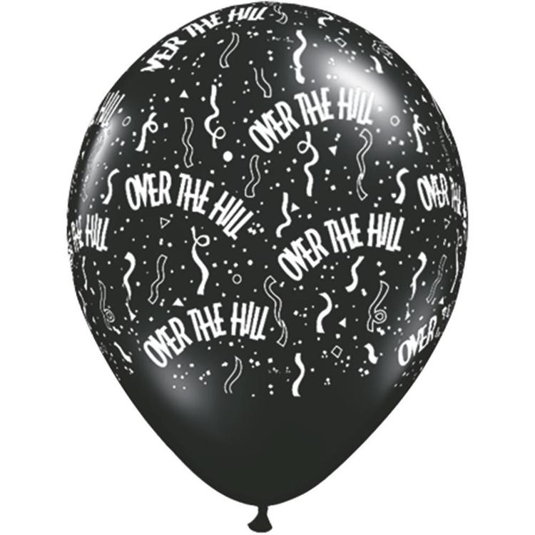 Qualatex Over The Hill Latex Balloon Onyx Black