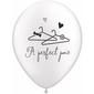 Qualatex A Perfect Pair Latex Balloon Pearl White