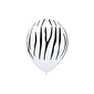 Qualatex Zebra Stripes Latex Balloon White & Black