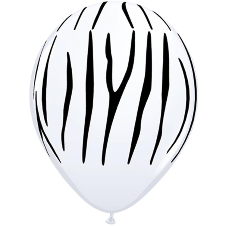 Qualatex Zebra Stripes Latex Balloon