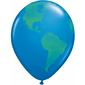Qualatex Globe Latex Balloon Dark Blue