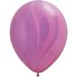 Qualatex Blue Rainbow Agate Latex Balloon