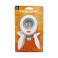 Fiskars Circle Scalloped Squeeze Punch White & Grey