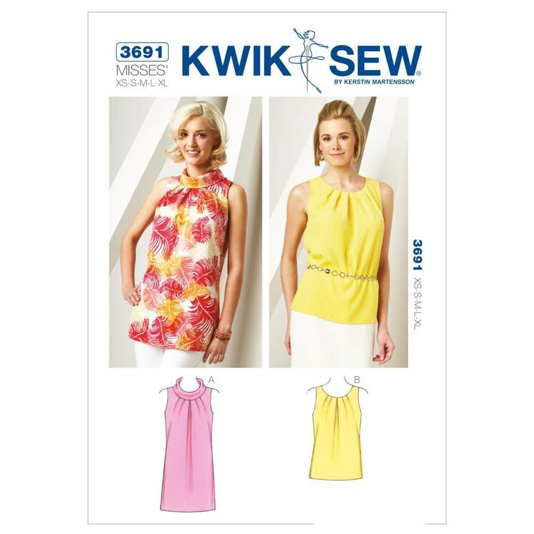 Kwik Sew K3691 Tunic & Top  X Small - X Large