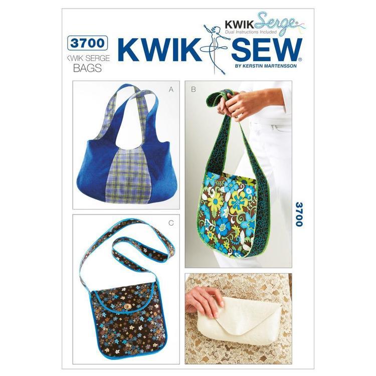 Kwik Sew Pattern K3700 Kwik Serge Bags