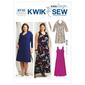 Kwik Sew 3710 Women's Scoop-Neck Dresses 1X - 4X