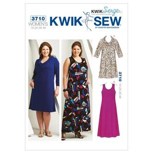 Kwik Sew 3710 Women's Scoop-Neck Dresses