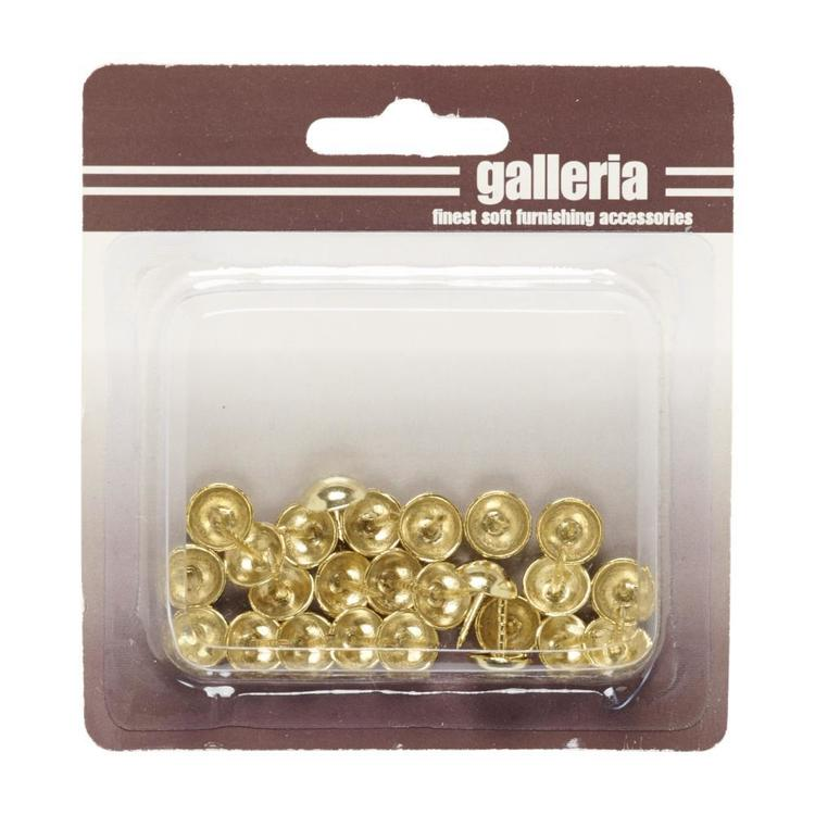 Galleria Gal Upholstery Tacks 25 Pack Brass