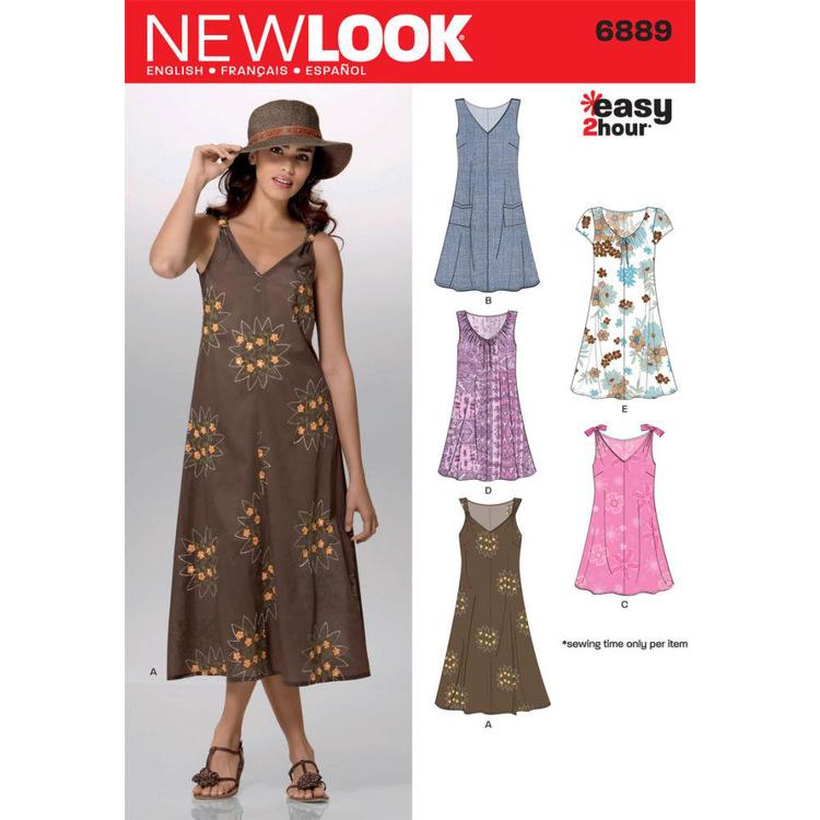 New Look Pattern 6889 Women's Dress