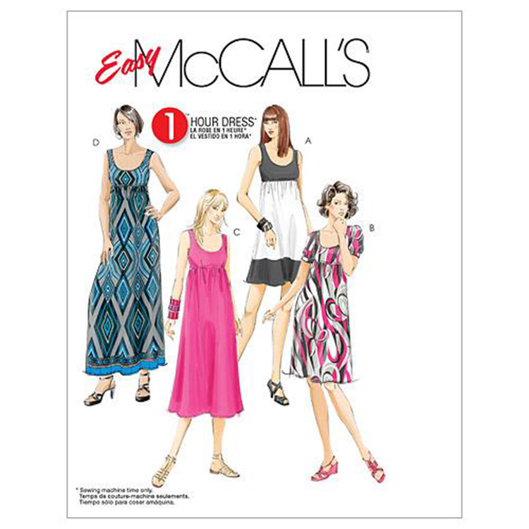 McCall's Pattern M5893 Womens' Dresses In 4 Lengths