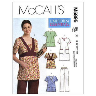 McCall's Pattern M5895 Womens' Tops Dress & Pants