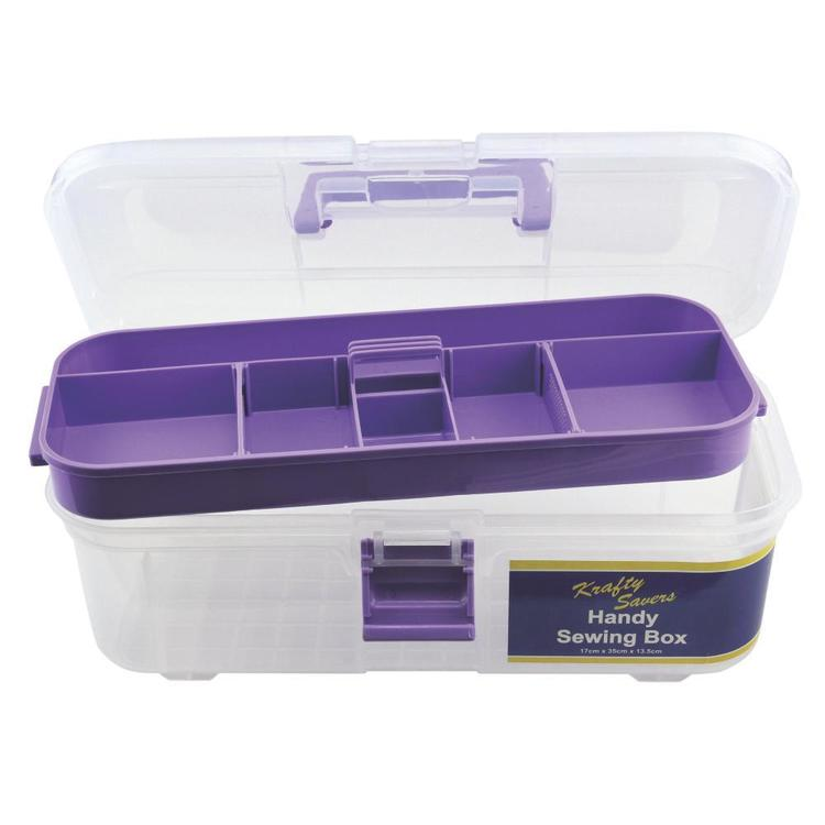 Krafty Savers Handy Sewing Box Purple