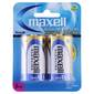 Maxell Premium Alkaline D Battery 2 Pack