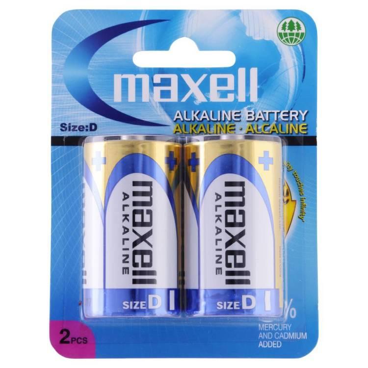 Maxell Premium Alkaline D Battery 2 Pack