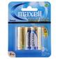 Maxell Premium Alkaline C Battery 2 Pack Multicoloured D