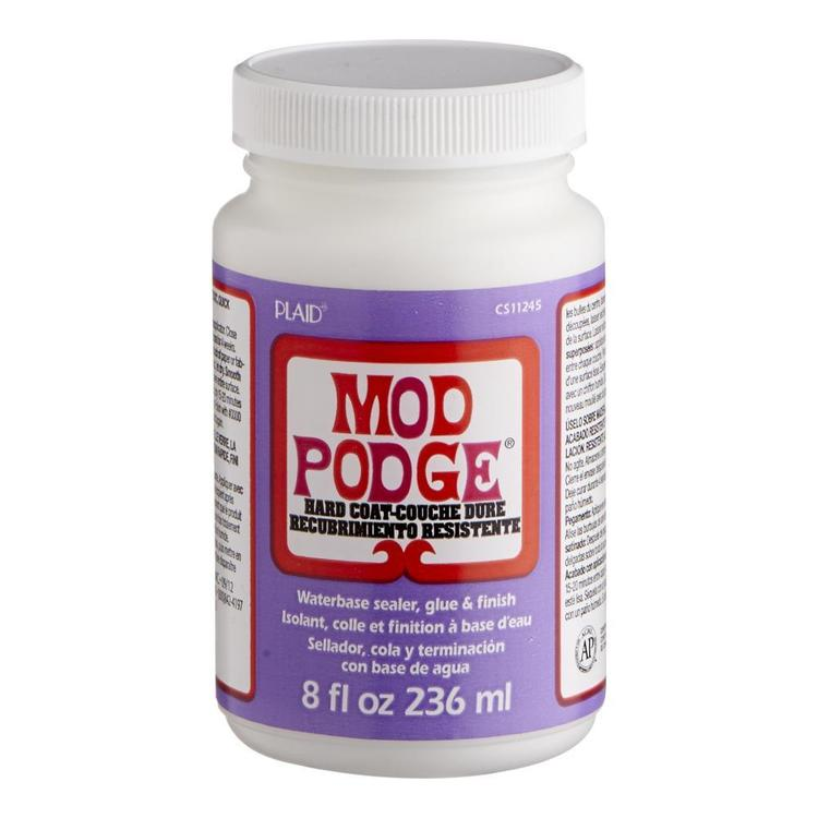 Plaid Mod Podge Hard Coat Glue White 8 oz