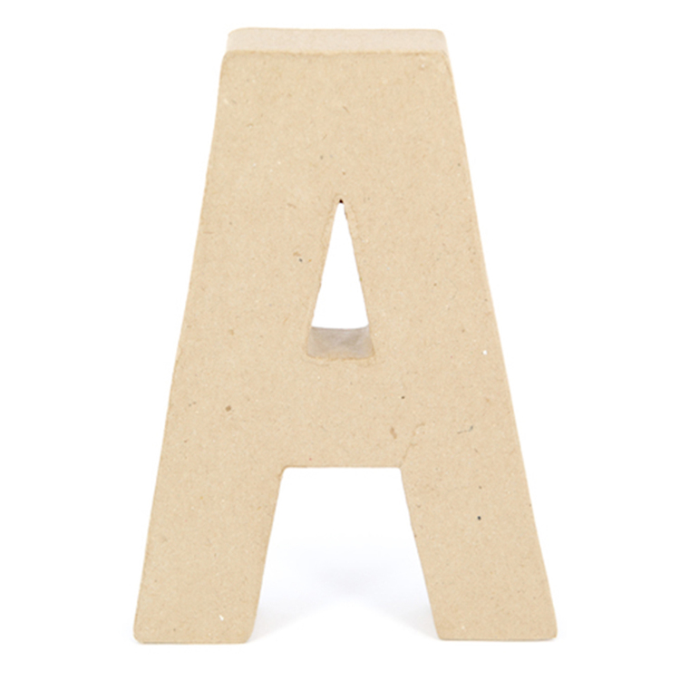 Shamrock Craft Papier Mache Letter A Natural
