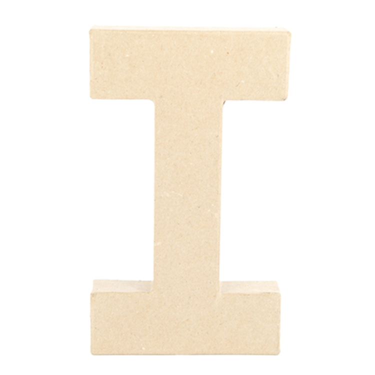Shamrock Craft Papier Mache Letter I Natural