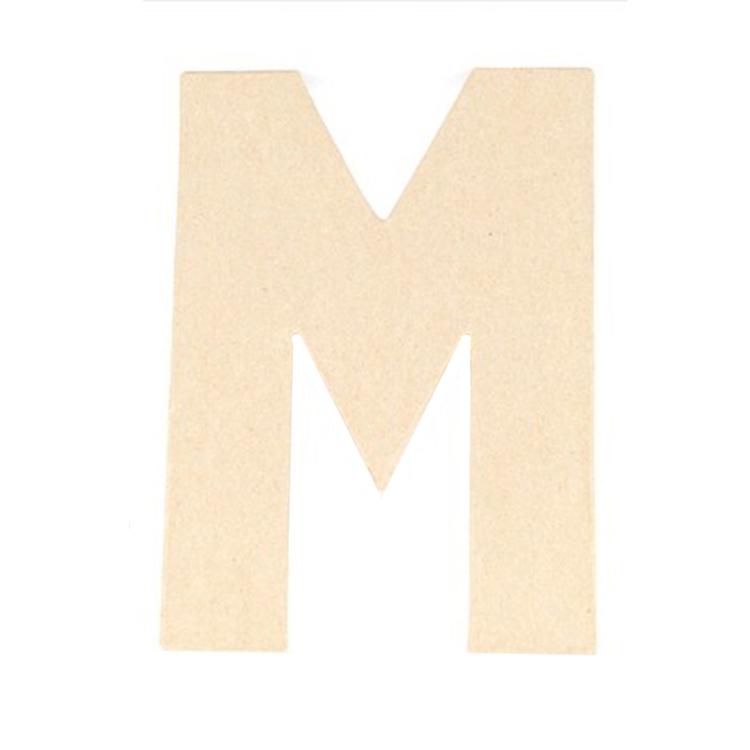 Shamrock Craft Papier Mache Letter M