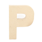 Shamrock Craft Papier Mache Letter P Natural