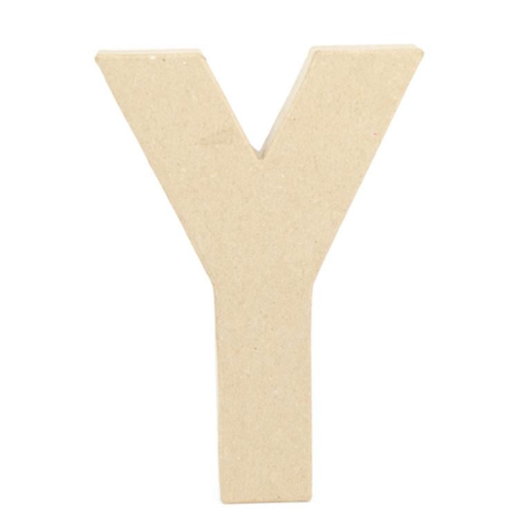 Shamrock Craft Papier Mache Letter Y