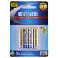 Maxell Premium Alkaline Battery AAA 4 Pack Multicoloured AA