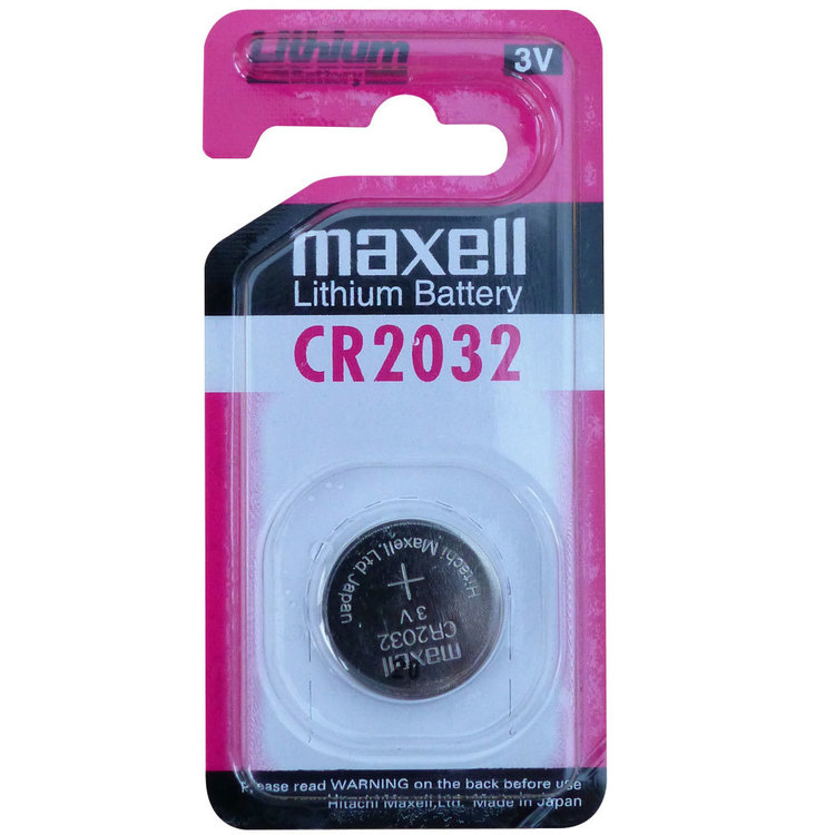 Maxell Micro Lithium CR2032 Battery 1 Pack Multicoloured