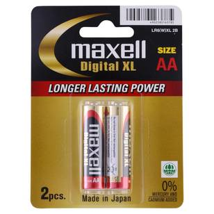 Maxell Digital XL Alkaline AA 2 Pack